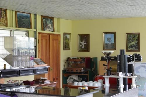 パナマのカフェルイスのコーヒーの研究施設
