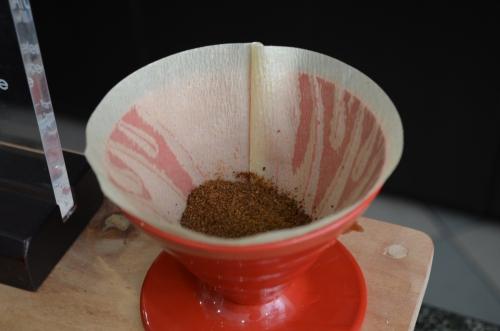 パナマの高級コーヒー・ゲイシャの粉末