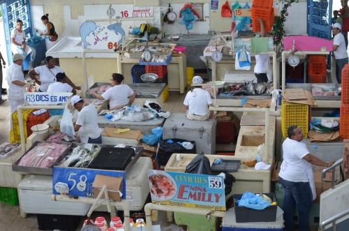 パナマの魚市場の全体写真