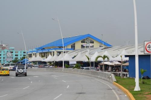 パナマシティの魚市場の外観