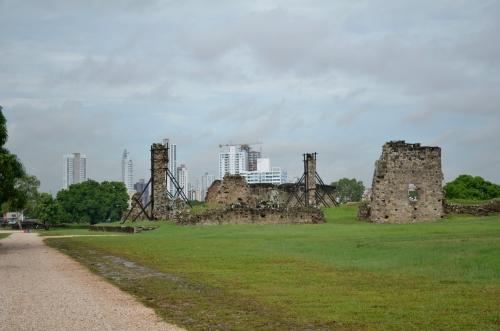 パナマ・ビエホの遺跡あと