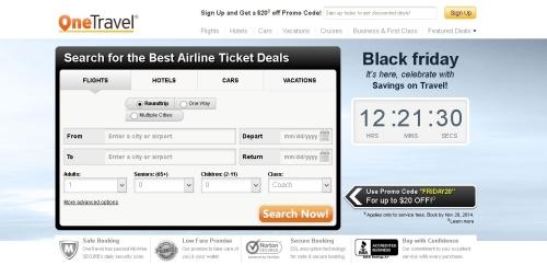 海外の格安航空券検索サイトOne Travel
