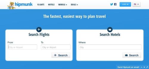 海外の格安航空券検索サイトhipmunk