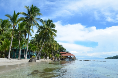 カリブ海に浮かぶレストラン