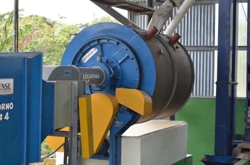 コーヒー豆の火力乾燥機械