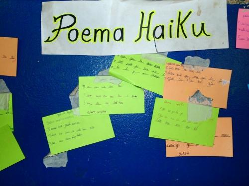 スペイン語の俳句の授業