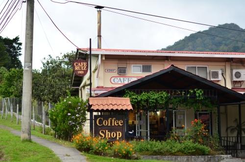 パナマのカフェルイスのコーヒーショップ