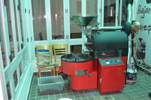 パナマのコーヒー焙煎機
