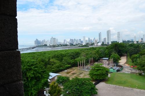 パナマ・ビエホから見たパナマシティ