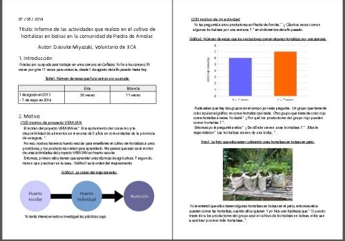 プロジェクト活動とコミュニティの報告書