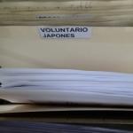 配属先の新所長に144枚のボランティア活動報告書を提出した。
