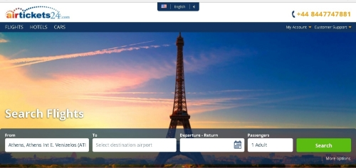 海外の格安航空券検索サイトair ticket 24