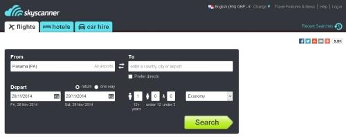 海外の格安航空券検索サイトskyscannar