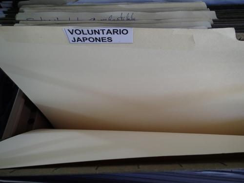 空のボランティア用書類保管庫