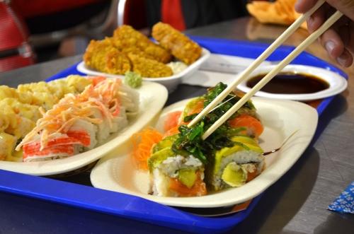 海外の巻き寿司チェーン店の巻き寿司