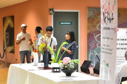 生け花展示コーナー