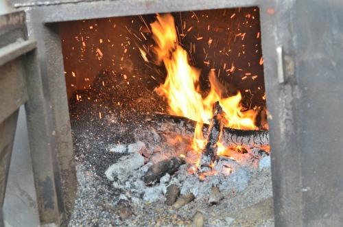 コーヒー豆の乾燥機械の火力
