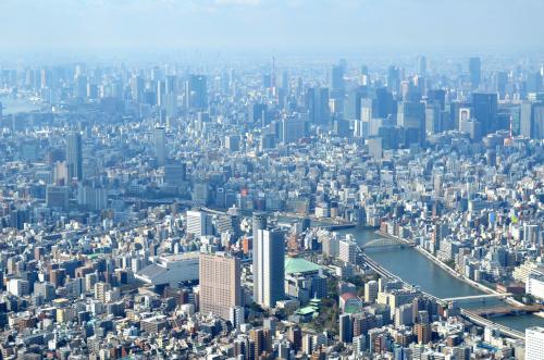 スカイツリーから見た首都東京