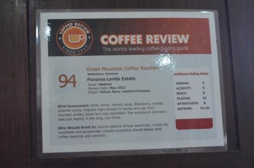 レリダ農園のコーヒー豆の評価