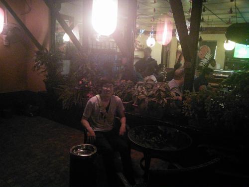 中米パナマの日本料理屋で記念撮影