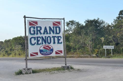 ユカタン半島のグランセノーテの入り口