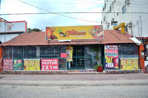 カンクンのタコス屋El Poblano