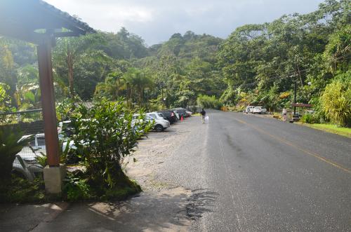 タバコン温泉の入り口からの写真