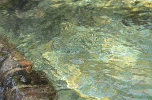 ラテンアメリカのタバコン温泉のお湯