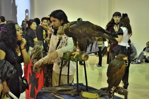 海外のコスプレイベントにいた鷹