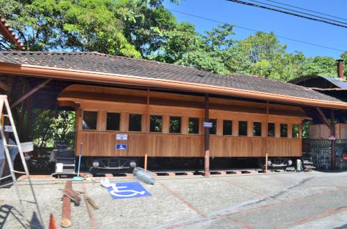 コスタリカの電車のレストラン