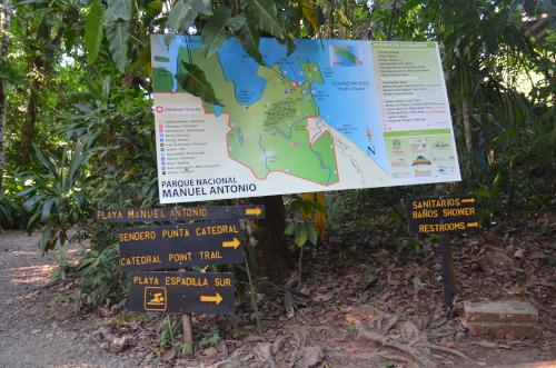 マヌエル・アントニオ国立公園の案内マップ