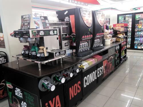メキシコシティのセブンイレブンのドリップコーヒー