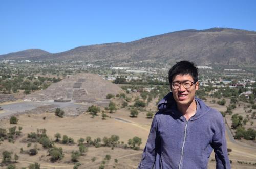 テオティワカン遺跡の頂上の撮影スポット
