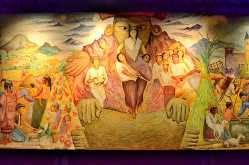 メキシコ国立人類学博物館の展示物絵画