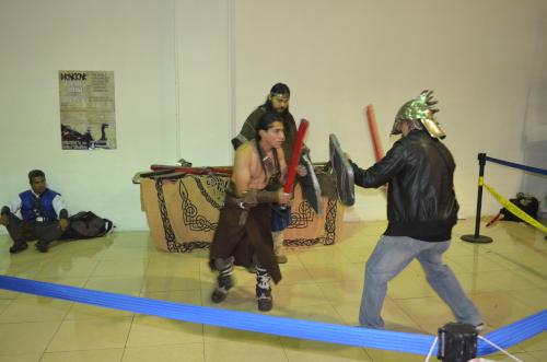 メキシコシティのオタクイベントで剣士との試合
