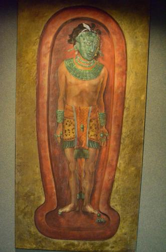 メキシコ国立人類学博物館の展示物ミイラ