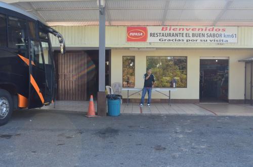 コスタリカのサン・ヘラルド・デ・ドタの手前のレストラン