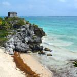 メキシコのトゥルム遺跡は絶景ビーチで海水浴できるのでおすすめ!カンクン・セノーテからバスで行く方法