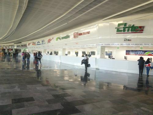 メキシコシティの北方面バスターミナル