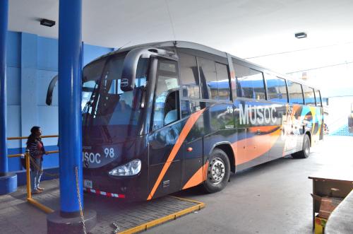 サン・イシドロ行きのバス