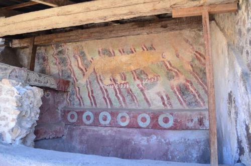 死者の道のジャガーの壁画