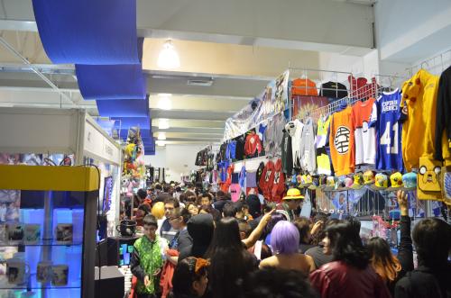 メキシコシティのコスプレイベントの通路
