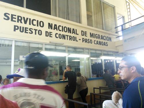 パナマの入出国管理窓口