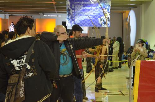 メキシコシティでの弓矢体験