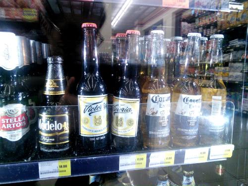 メキシコのコンビニのビールの売り方
