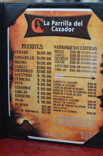 メキシコシティのジビエ料理のお店