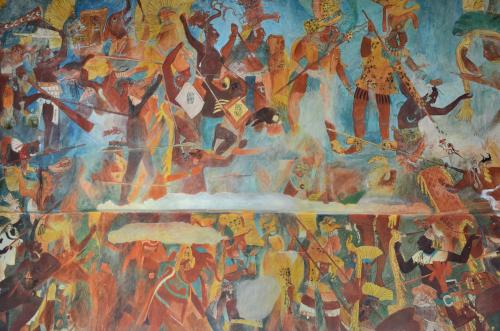 メキシコ国立人類学博物館の展示物戦争
