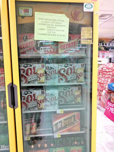 メキシコのスーパーのビールの売り方