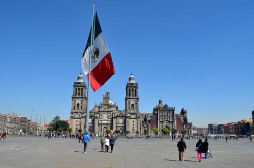 メキシコの巨大な国旗