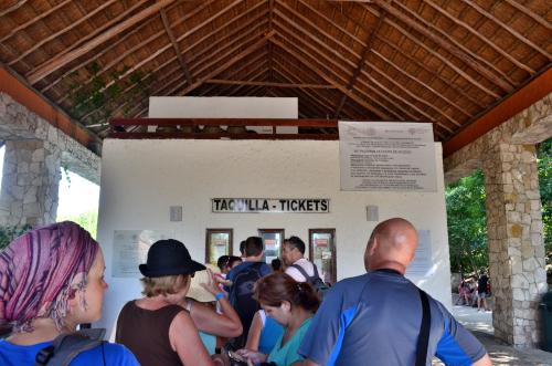 トゥルム遺跡のチケット売り場の行列